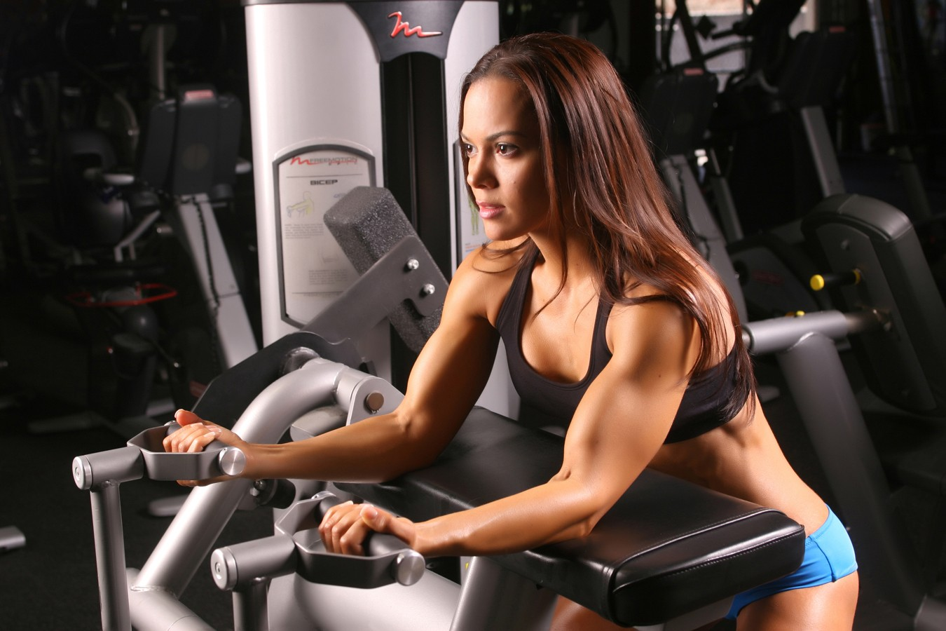 Sports Vanessa Tib font b fitness b font font b models b font athletic gyms barbell