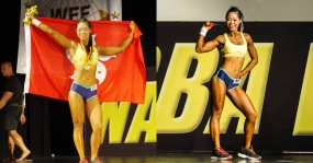 2016NABBA WFF SINGAPORE MUSCLE WAR 2016 SPORT MODEL 第二名 - 教練 Alice Kong